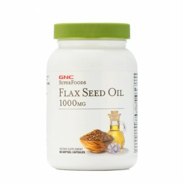 GNC Flax Seed Oil 1000 mg 90 Softgel Capsules
