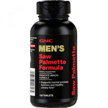 GNC Men's Ultra Saw Palmetto a Prostate Health Formula for Men 120 Tablets