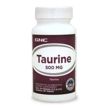 GNC Taurine Supports Muscle Function 500mg 50 Caplets