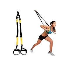 Image of a girl on TRX workout