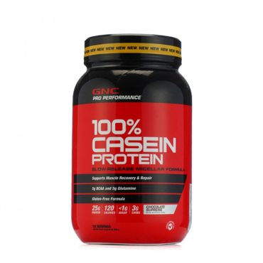 GNC Pro Performance 100% Casein Protein Powder for Men & Women (Chocolate) (2lb)
