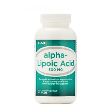 GNC Alpha Lipoic Cap 300Mg For Antioxidant Regeneration (60 Caplets)