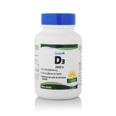 Healthvit Vitamin D3 20000 IU Maximum Strength 60 Tablets