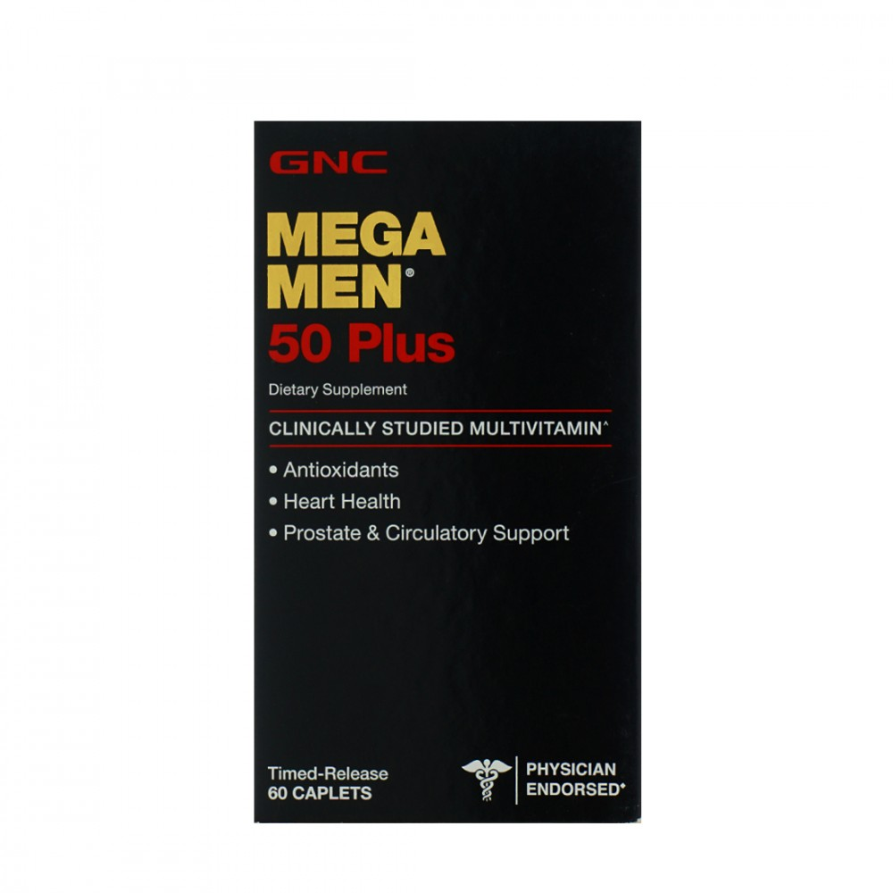 GNC Mega Men 50 Plus For Heart & Prostate 60 Caplets
