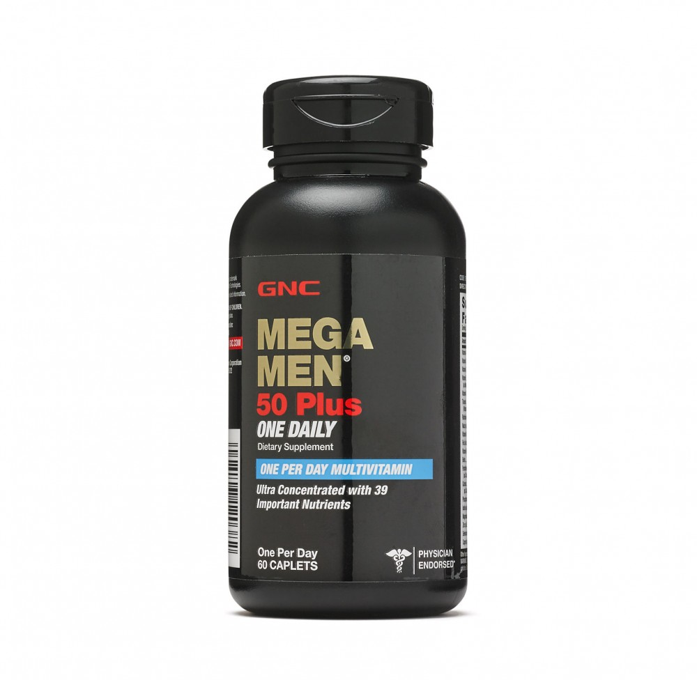 GNC Mega Men 50 Plus One Daily 60 Caplets