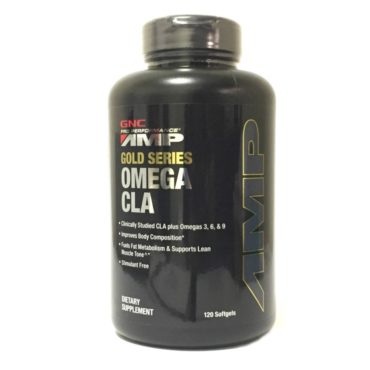 GNC PP AMP Gold Series Omega CLA 120 Softgels