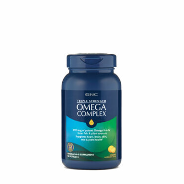 GNC Triple Strength Omega Complex Lemon Flavor 90 Softgels
