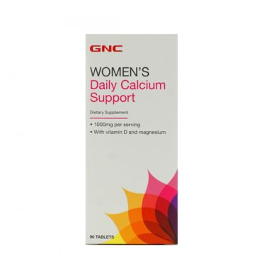 GNC Women's Daily Calcium Support Vitamin D and Magnesium 90 Tablets
