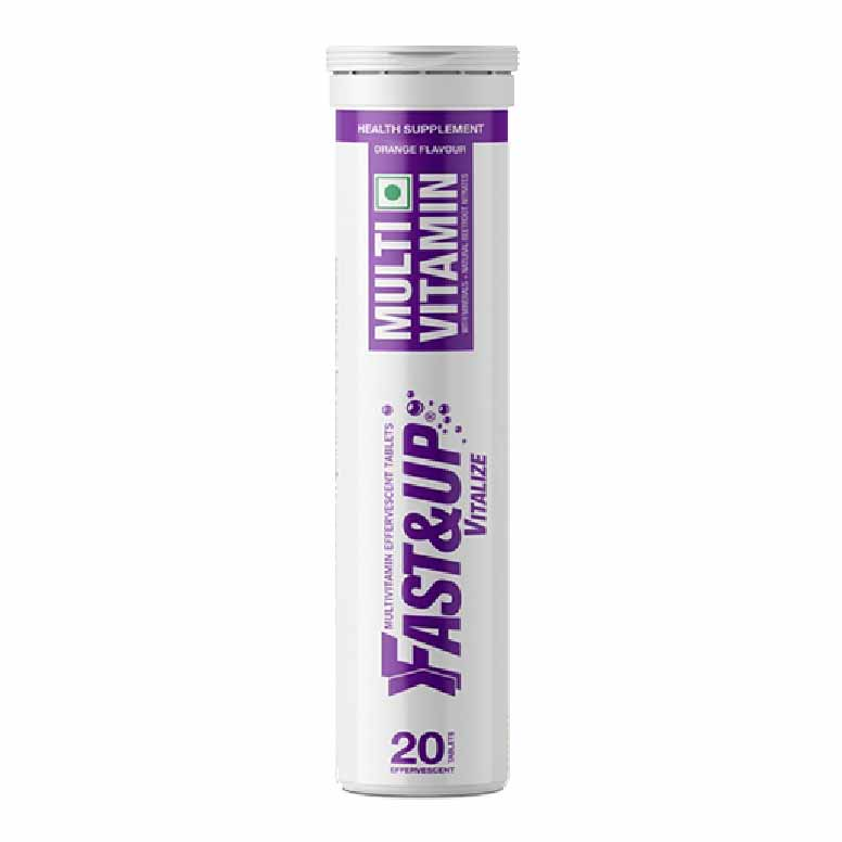 Fast&Up Vitalize Tube of 20 Tabs Orange Flavour