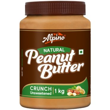 Alpino Natural Peanut Butter Crunch 1 KG (Pack Of 2)1