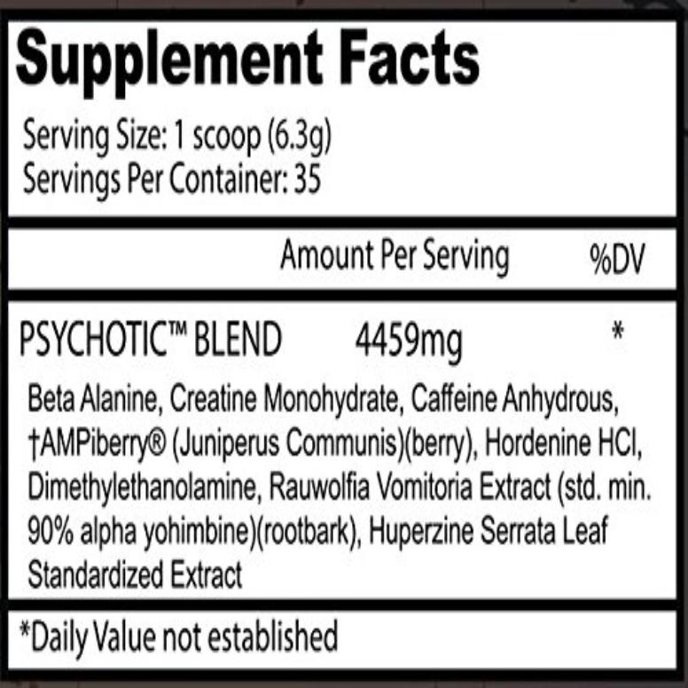 Insane Labz Psychotic Pre-Workout 35 Servings
