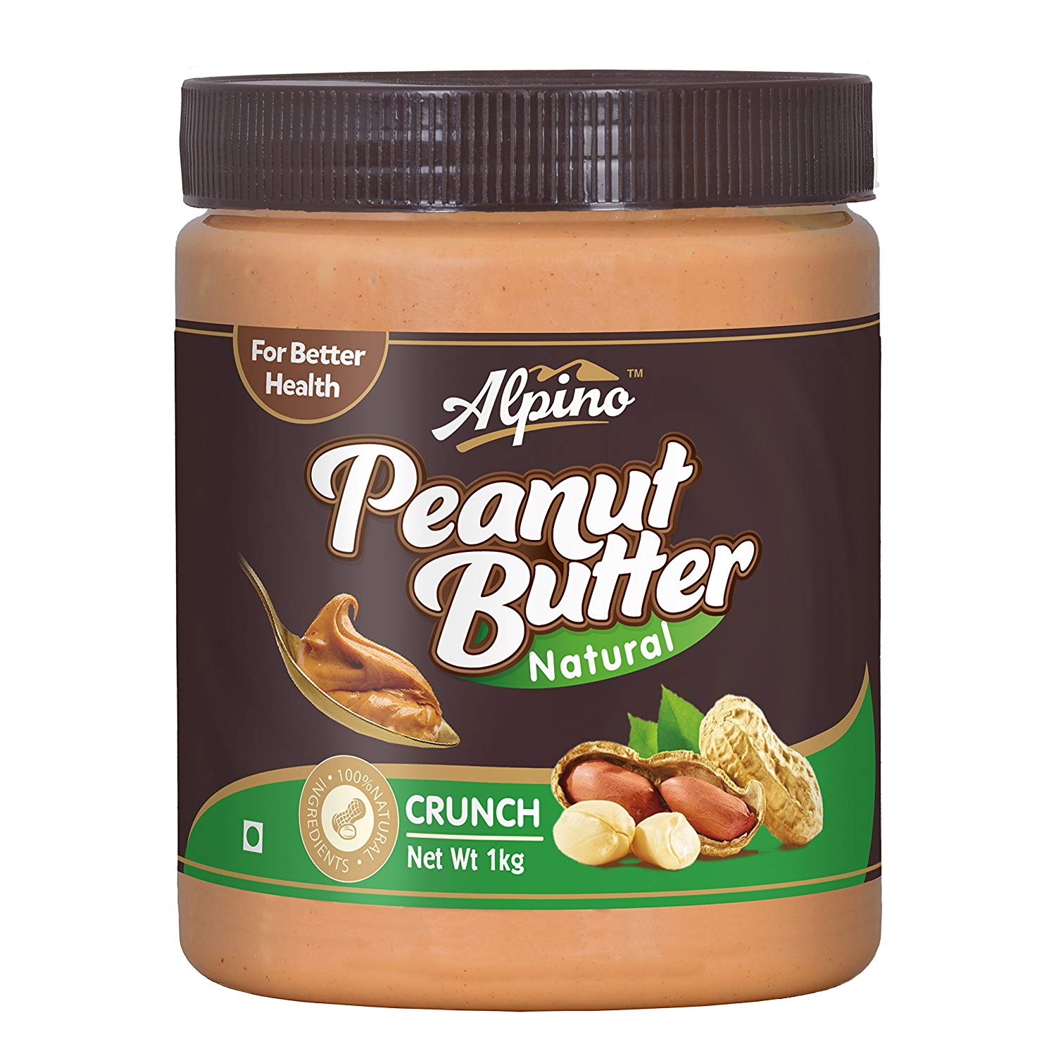 Alpino Natural Peanut Butter (Unsweetened) 1 kg