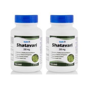 HealthVit Shatavari 250 mg 60 Capsules (Pack Of 2)