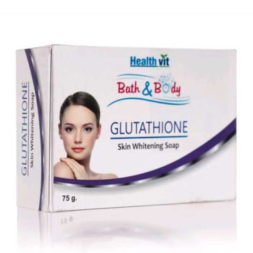 Healthvit Bath & Body Glutathione Skin Whitening Soap | 75GM