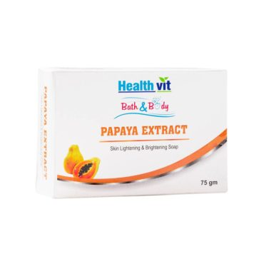 Healthvit Bath and Body Papaya Extract Soap 75g (Pack of 2)