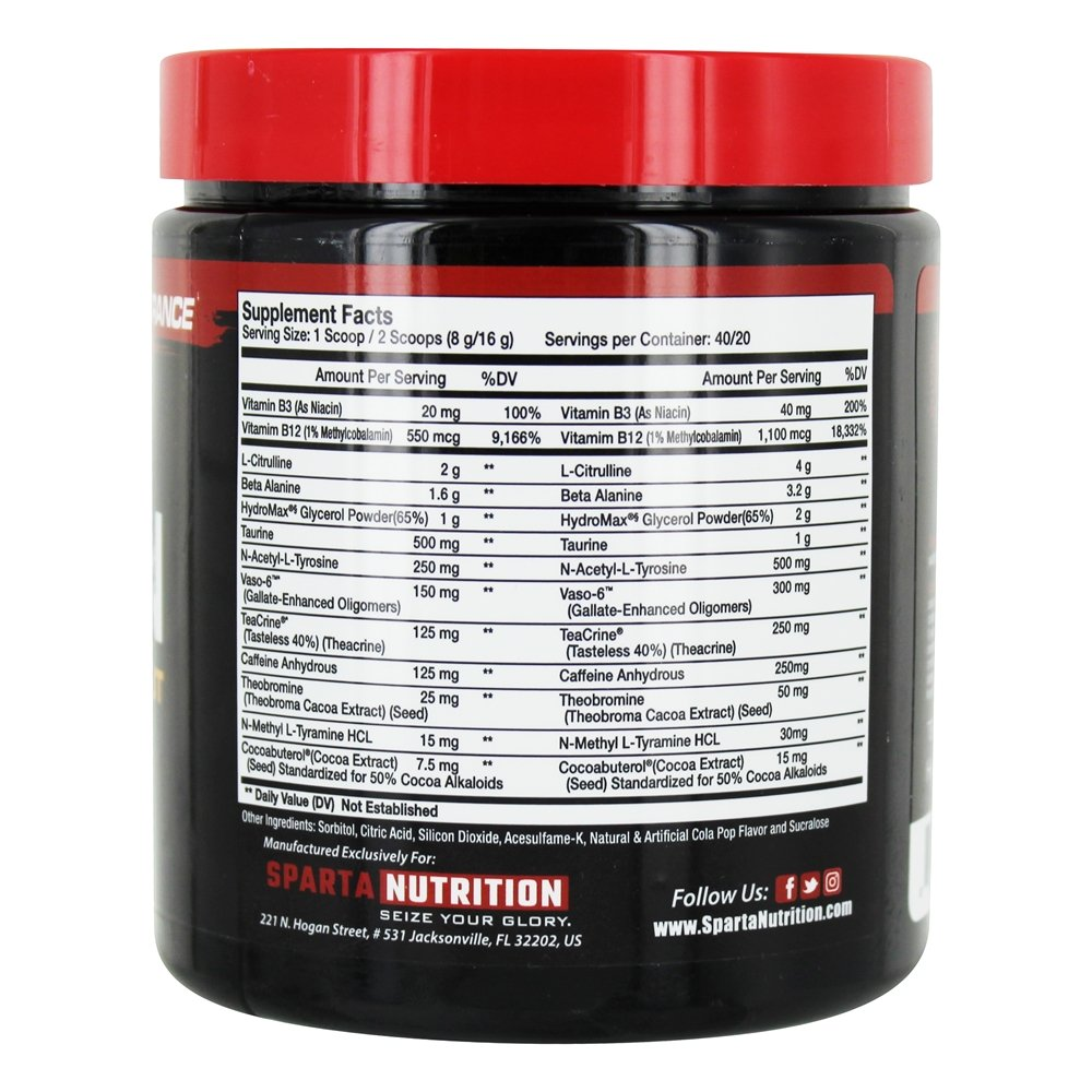 Sparta Nutrition kraken Pre Workout 40 Serving