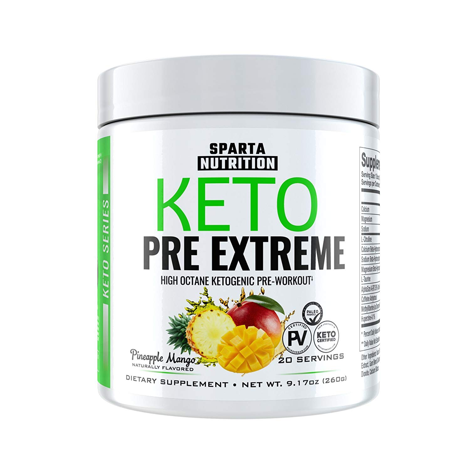 Sparta nutrition Keto Pre Extreme 20 Serving