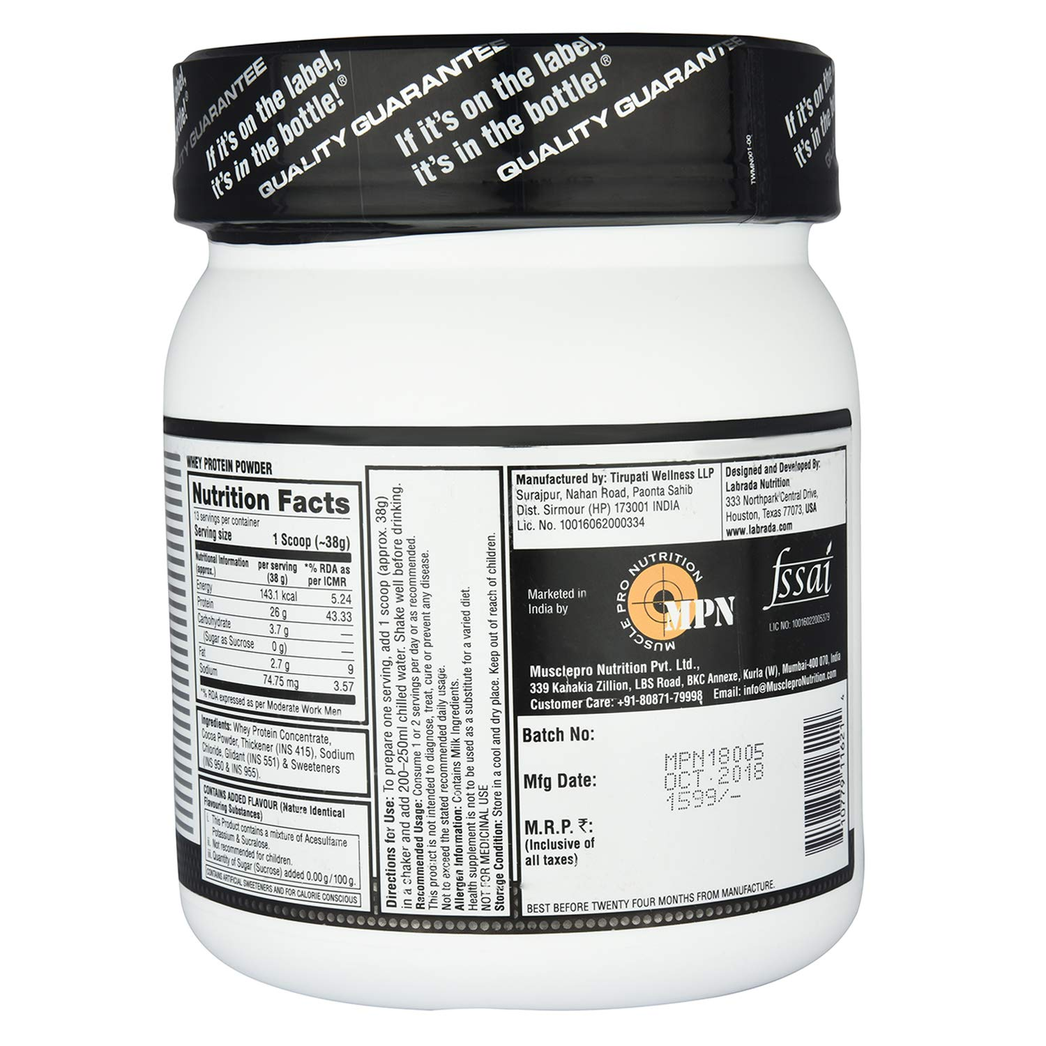 Labrada Nutrition Facts