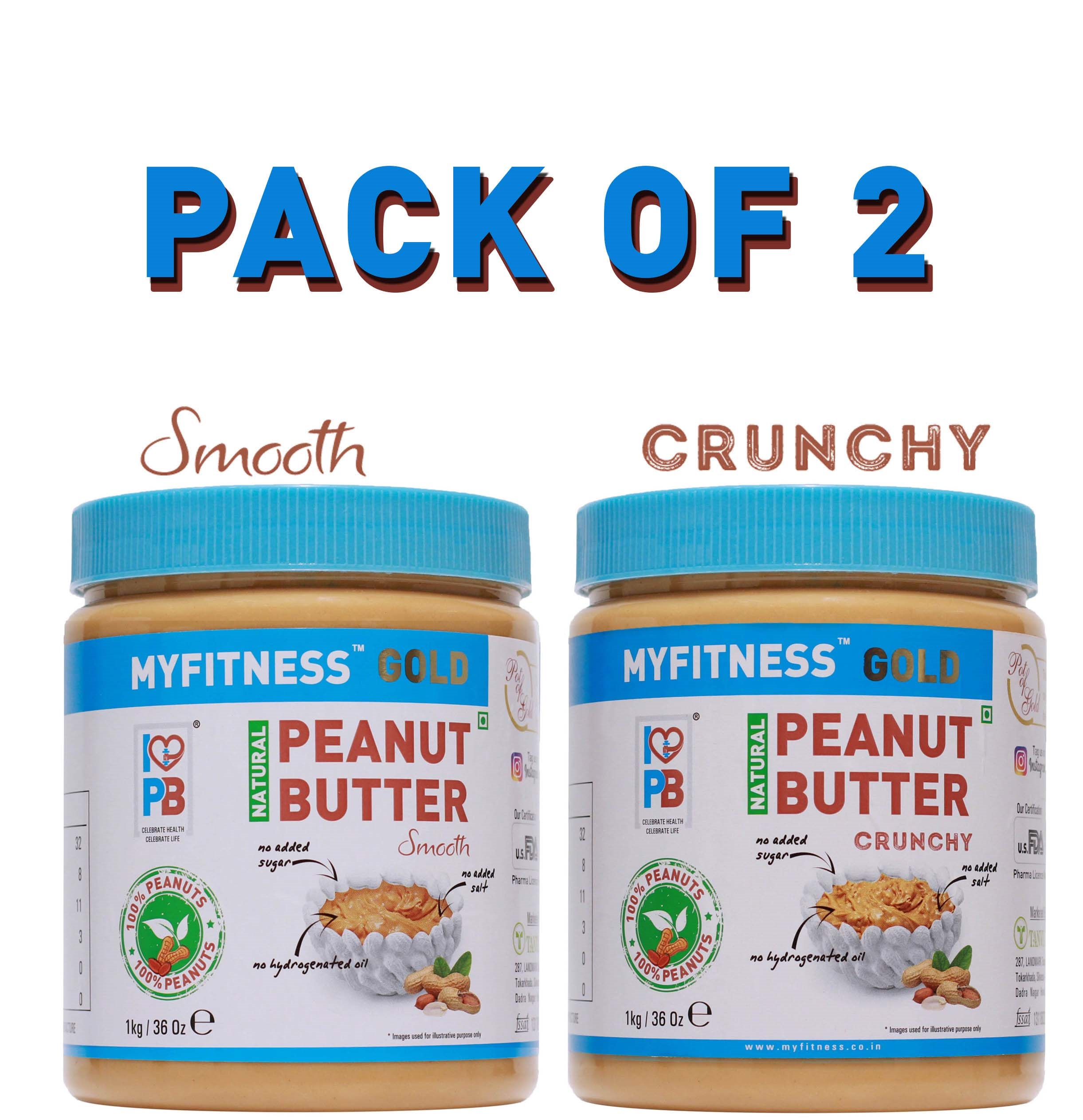 Myfitness-Gold-Natural-Peanut-Butter-Combo-Crunchy-1Kg-and-Smooth-1Kg-1