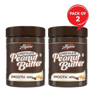 Alpino Chocolate Peanut Butter Smooth 1 KG (Pack Of 2)