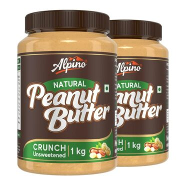 Alpino Natural Peanut Butter 1 KG (Pack Of 2)
