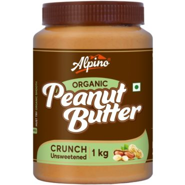 Alpino Organic Natural Peanut Butter 1 KG