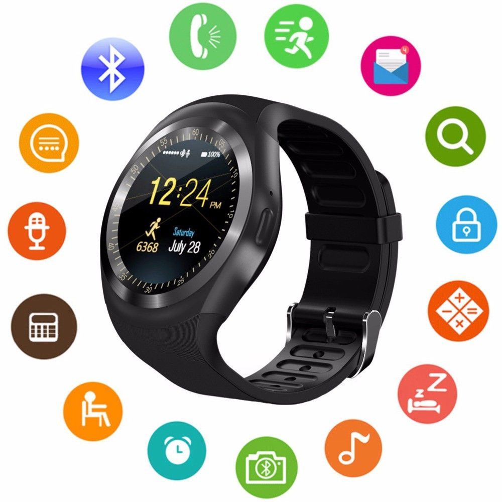 Y1X Smartwatch 1.4″ inch Round Color Screen Heart Rate Monitor Pedometer Men Fitness Tracker (Android App Available)