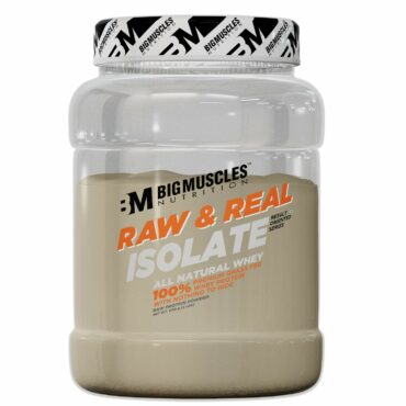 Big Muscles Raw and Real Isolate Whey, 2 lb Unflavoured