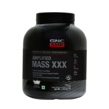 GNC AMP Mass XXX Gainer Powder 3Kg
