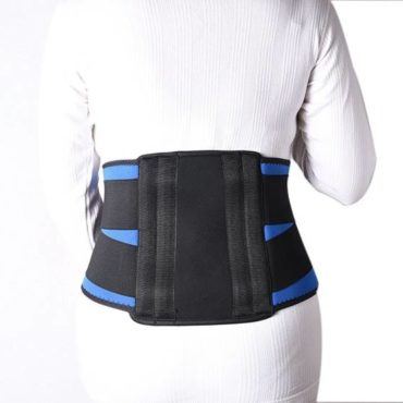 Medtrix Contoured Lumbar Sacral (L.S.) Back Support Black & Blue