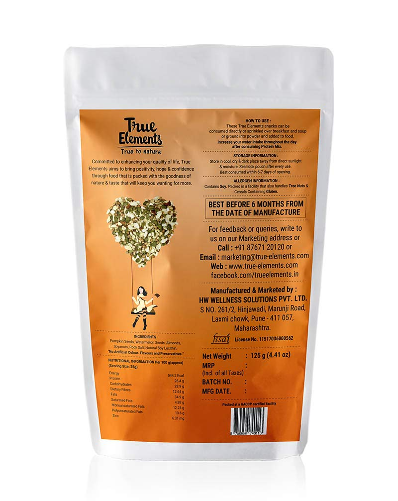 True Elements Protein Omega Mix 125gm
