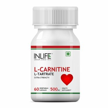 INLIFE L-Carnitine L-Tartarate, 500mg, 60 Capsules