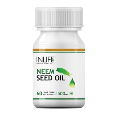 INLIFE Neem Seed Oil Supplement 500mg, 60 Capsules