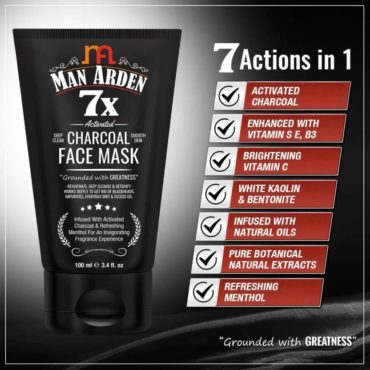 Man-Arden-7X-Activated-Charcoal-Face-Mask-100ml-3