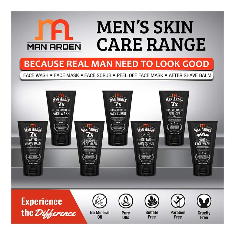 Man-Arden-7X-Activated-Charcoal-Face-Scrub-100ml-7