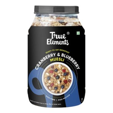 True Elements Cranberry And Blueberry Muesli 1000gm