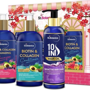 StBotanica Biotin & Collagen Shampoo + Biotin & Collagen Conditioner + 10 in 1 Hair Oil
