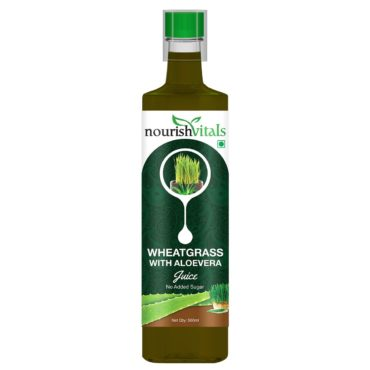 NourishVitals WheatGrass With Aloe-Vera Juice 500ml