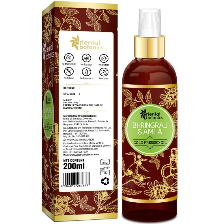 Oriental Botanics Bhringraj & Amla Oil For Hair 200ml4