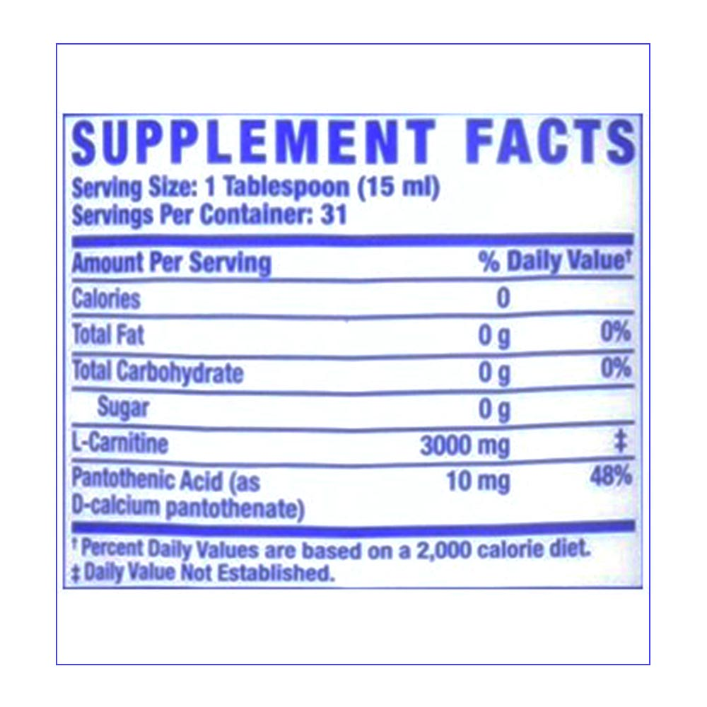 RONNIE-COLEMAN-L-Carnitine-XS-16oz-supp-facts