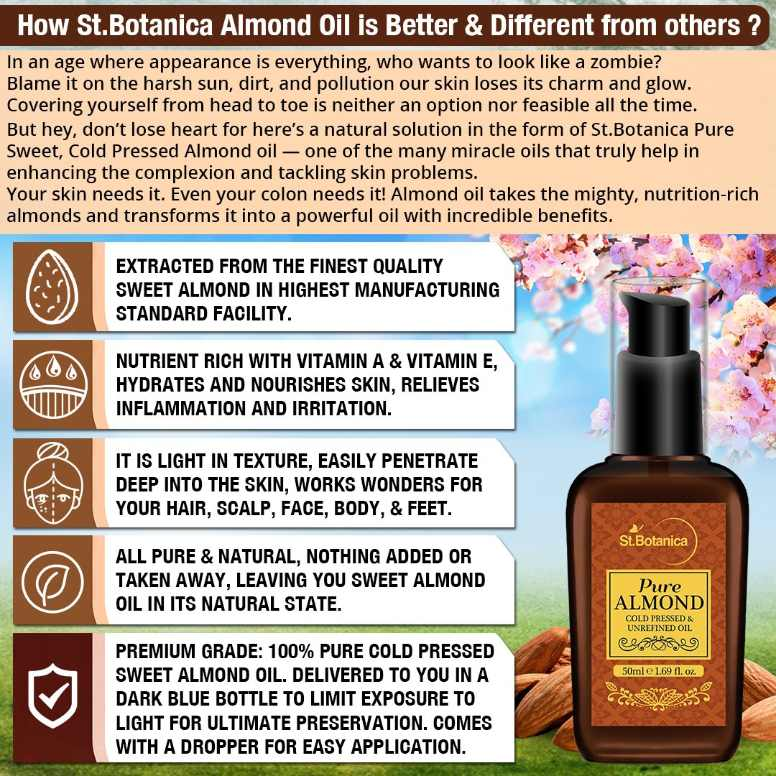 StBotanica Sweet Almond Pure Oil 50ml