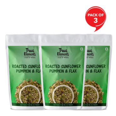True-Elements-Roasted-Sunflower-Pumpkin-And-Flax-Seeds-125gm-Pack-of-32