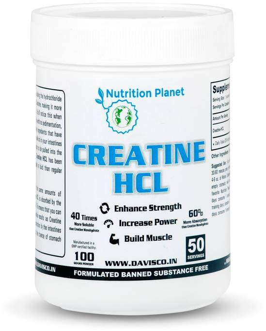 Nutrition Planet Creatine HCL – (100g, Unflavoured)