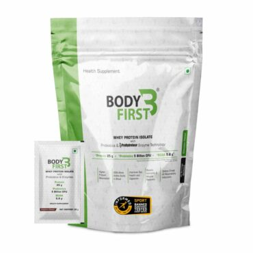 BodyFirst Whey Protein Isolate with Probiotics and Enzymes (70 Servings, Chocolate)