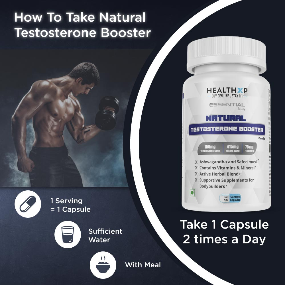 HealthXP Testosterone Booster 120Caps-2