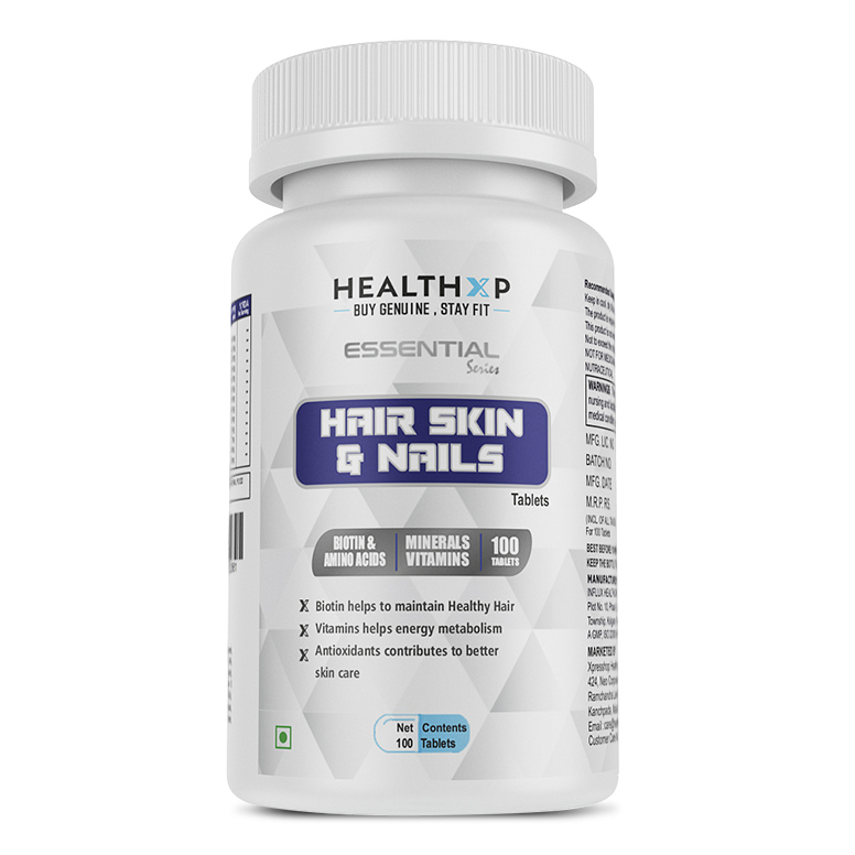 Buy HealthXP Hair, Skin Nails with Biotin, tabs