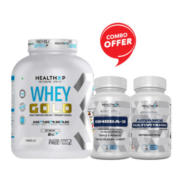 Whey Gold + Omega 3 Triple Strength + Adv. Multivitamin