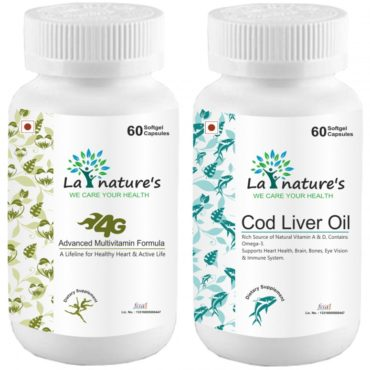 La Nature's 4G Advanced Multivitamin Formula with Cod Liver Oil 300Mg 60 Capsules (Combo of 2)