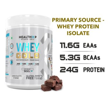 Healthxp whey gold 500g chocolate fudge