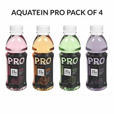 AQUATEIN Pro 21g Whey Protein Water 500ml Each (Pack of 4)